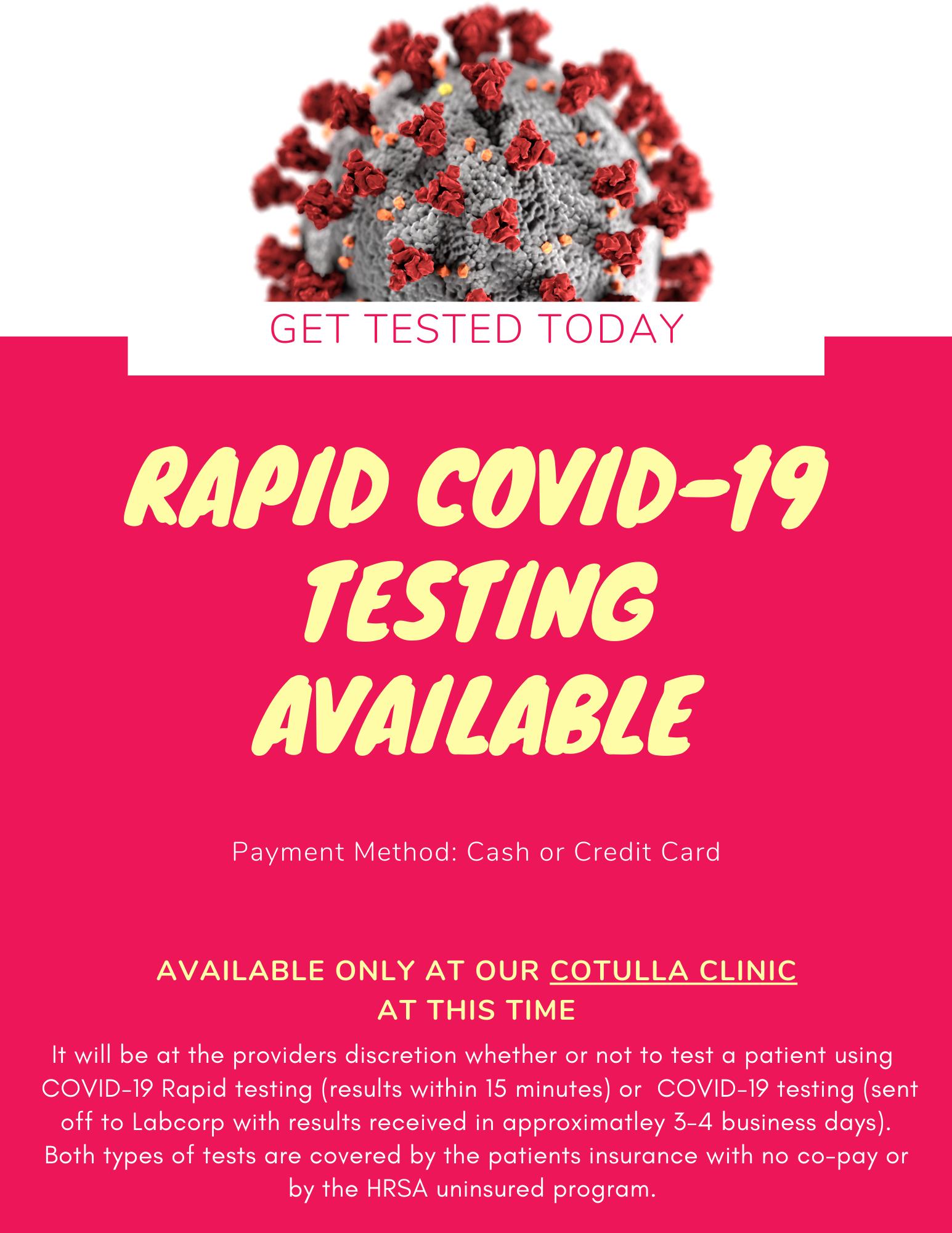 Rapid COVID Flyer